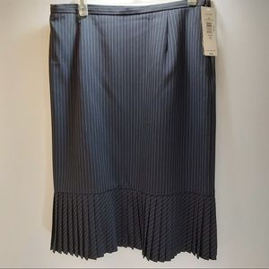 3/$45 NWT  pinstripe shirt with pleated bottom